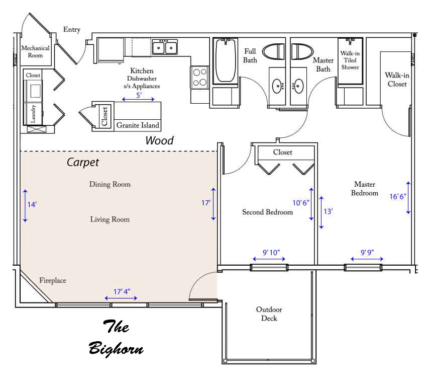 Bighorn River apartment floorplan