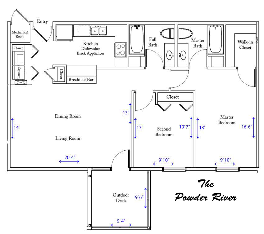 Powder River  apartment floorplan