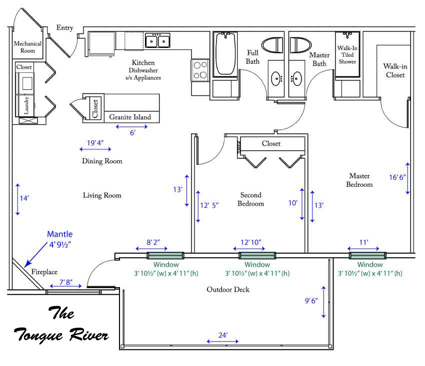 Tongue River apartment floorplan
