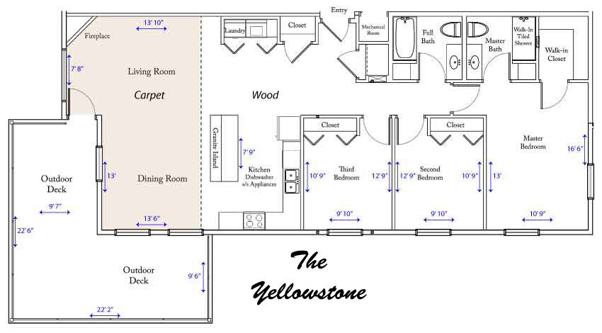 Yellowstone River apartment floorplan