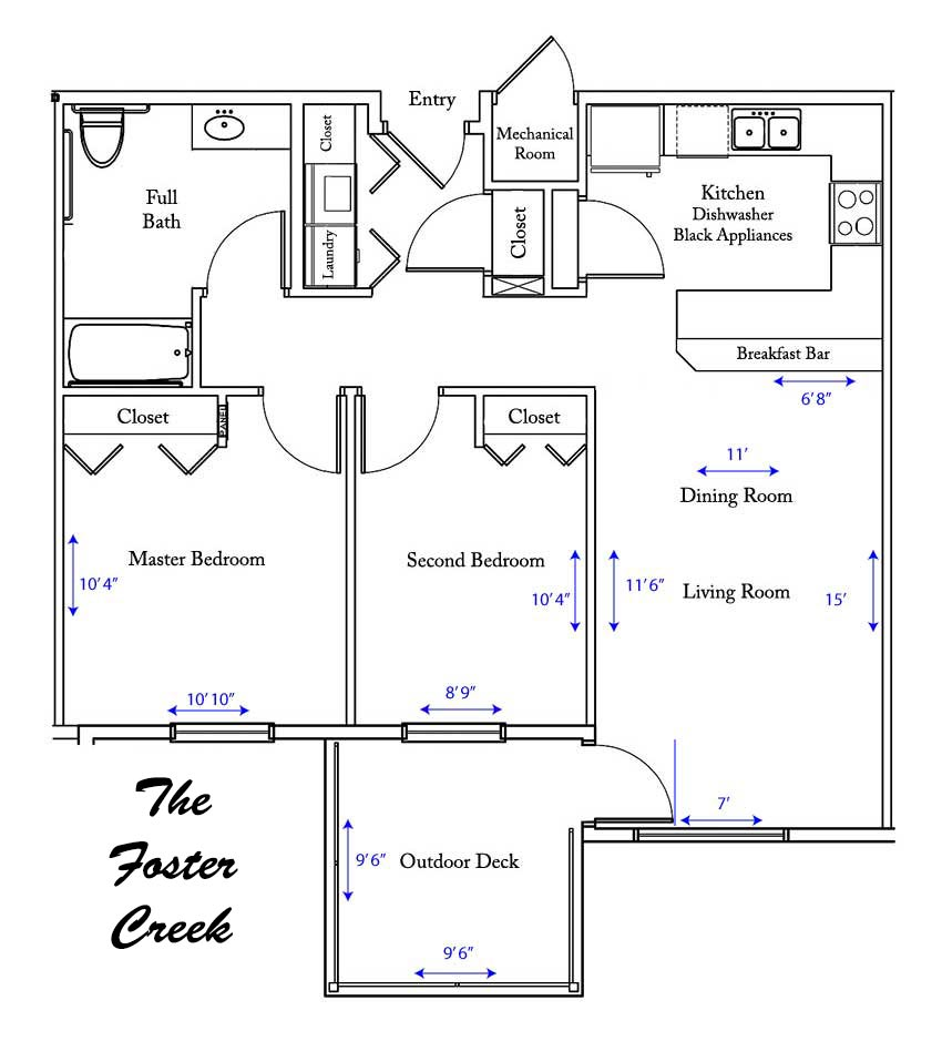 Foster Creek apartment floorplan