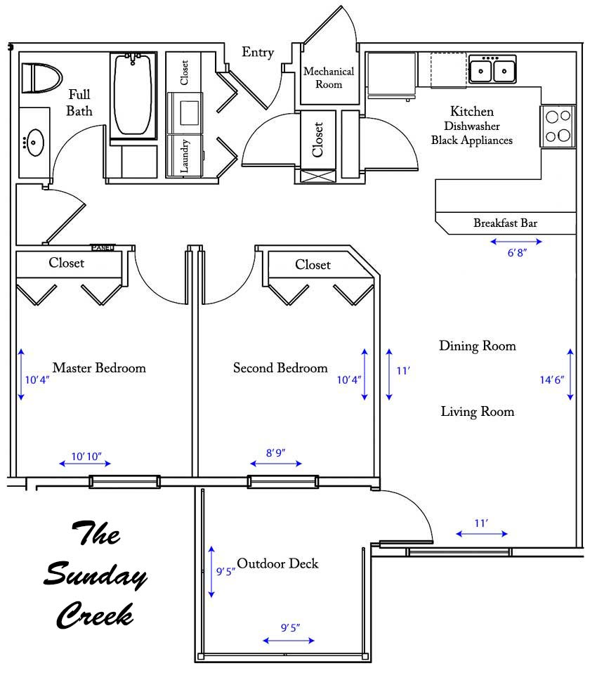 Sunday Creek apartment floorplan